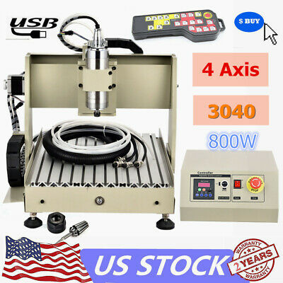 Usb 3040 4axis Cnc Router Engraver 800w Wood Milling Cutting Machinecontroller