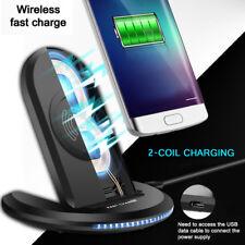 Rapide Chargeur Sans Fil Qi Charge Induction pour iPhone 8 X/XS/XR Samsung