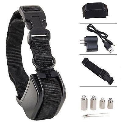 Rechargeable Anti Bark No Barking Tone Shock Training Collar F Small Medium Dog