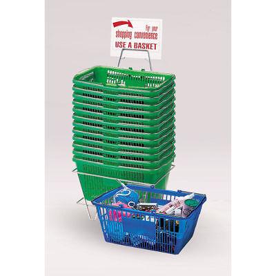 Green Plastic Shopping Baskets 54386