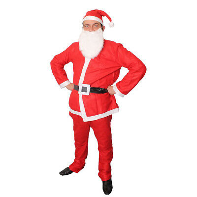 MENS SANTA CLAUS COSTUME 5 PIECE BARGAIN FATHER CHRISTMAS CHEAP XMAS FANCY DRESS