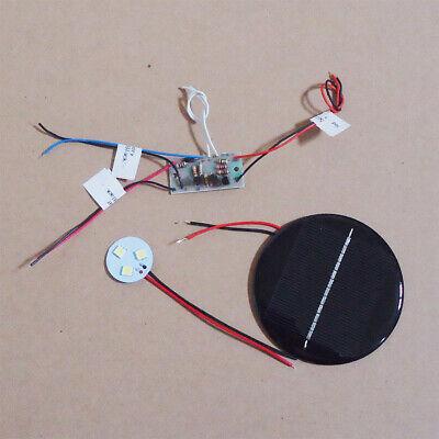 SAVE SOLAR 3.6V Round Solar Panel Auto Light DIY Kit with 3 LED lights