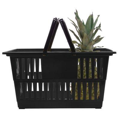 Hubert Plastic Shopping Basket Black - 18 14l X 13 14w X 9 18d