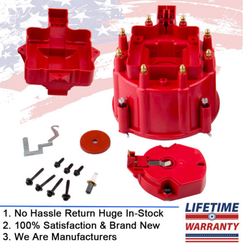 Male HEI Distributor Cap & Rotor Kit for Ford 302 Chevy 350 GM Replace SBC BBC