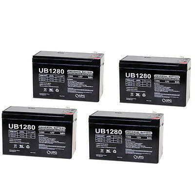 Upg 4 Pack   12V 8Ah Replacement Battery For Apc Rbc 2