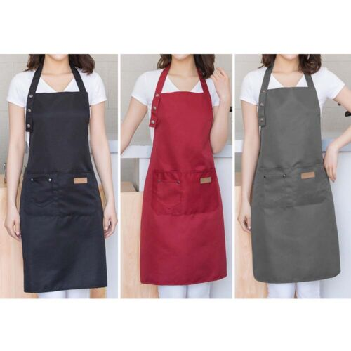 kitchen waterproof canvas apron baking cooking chef