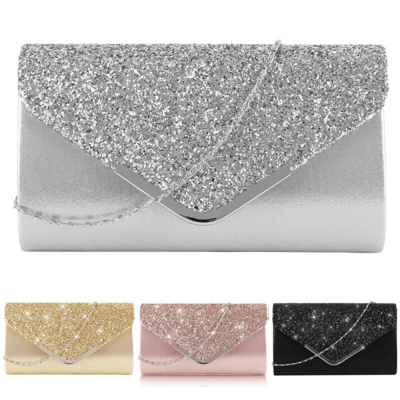884b506632286 Damen Elegant Abendtasche Handtasche Kleine Clutch Umhängetasche Shopper  Party