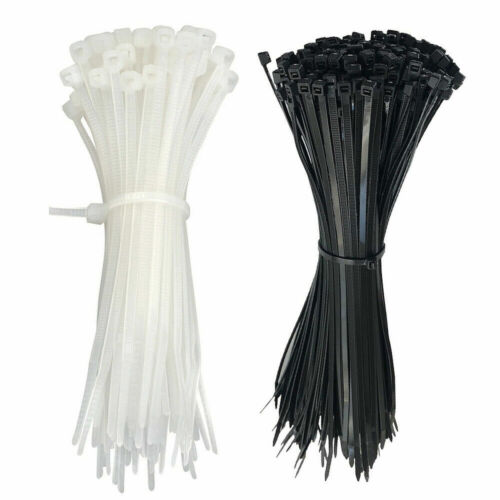 """Plastic Cable Zip Ties Heavy Duty Nylon Wrap Wire 100pcs  4"""" 8"""" 12"""" cable ties"""