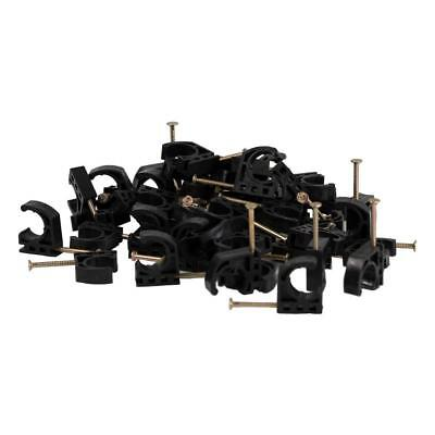 100 Pieces 12 In. Half Clamp J-hook W Nail For Pex Tubing Pipe Support Hanger