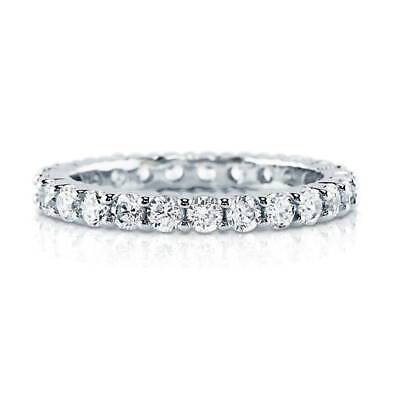 BERRICLE Sterling Silver Cubic Zirconia Anniversary Wedding Eternity Band (Anniversary Eternity Band Ring)