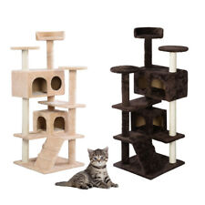 "52"" 60"" Cat Tree Tower Condo Furniture Scratch Post Pet Tree Kitty Play House"