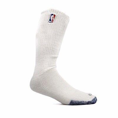 (1) Paif of Official NBA Dribbler Performance Power White Tube Socks Men's Large