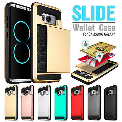 Credit Card Holder Shockproof Wallet Case Cover For Samsung Galaxy S7 / Edge (Card Holder Case Cover)