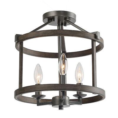 Semi Flush Lantern - Foyer Lantern Double Layers Semi-flush Mount