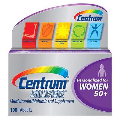Centrum Silver Women's Multivitamin Tabs - 100 Ct (3 Pack)