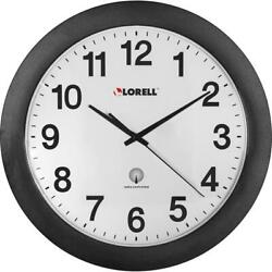Lorell 12 Round Radio Controlled Wall Clock - Analog - Quartz - Atomic