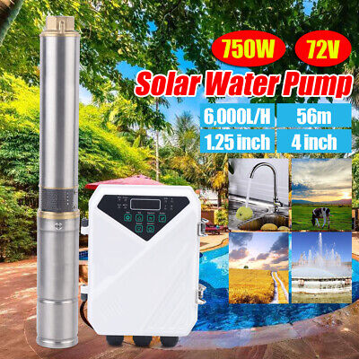 4 Dc Solar Water Pump 72v 1hp Submersible Deep Bore Well Pump Mppt Controller