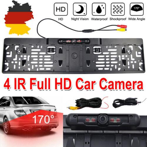 170° IR 4 LED Rückfahrkamera kennzeichen kabellos Nummernschild Einparkhilfe