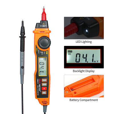 Peakmeter Pen Type Digital Multimeter Dcac Volt Current Meter Ncv Resist Tester