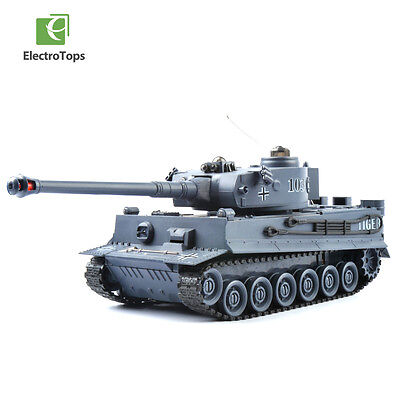 1/28 Remote Control Battle Tank German Tiger 330° Rotation Sound 9CH 40Mhz IR RC