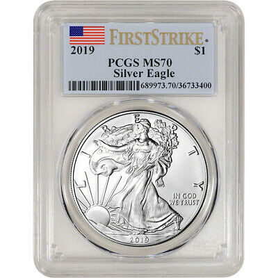 2019 American Silver Eagle - PCGS MS70 - First Strike