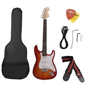 Electric Guitar Basswood Body Rosewood Fingerboard mit Gig Bag nimmt Riemen S8J7