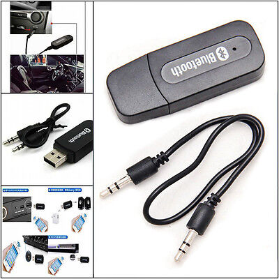 Bluetooth Wireless 3.5mm Aux IN Audio Stereo Music Receiver Adapter A2DP US Ship