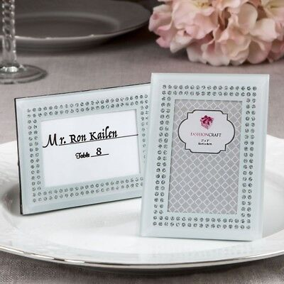 30 White Sparkling Place Card Frames Wedding Bridal Baby Shower Party Favors