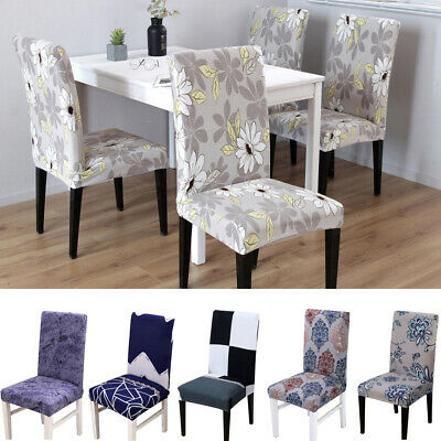 Washable Dining Room Wedding Banquet Party Chair Covers Stretch Seat Cover Decor - Wedding Seat Covers