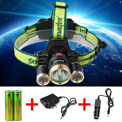 18000LM  CREE T6 LED 18650 Bicycle Lamp Bike Light Headlight Skywolfeye Headlamp