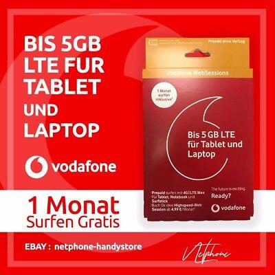 Vodafone Websessions D2 Internet Sim-Karte 1 M.GRATIS SURF Prepaid 4G LTE  gebraucht kaufen  Hamburg