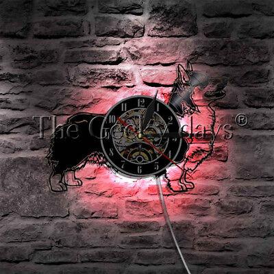 Cardigan Welsh Corgi Dog Wall Clock Dog Breed Corgy Pug Vinyl Record Wall Clock