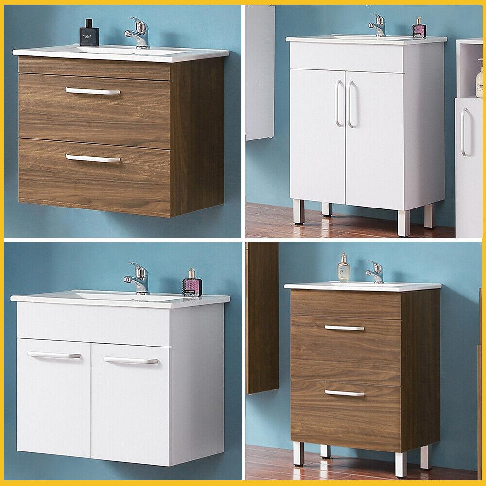Waschtisch mit Unterschrank 60cm Badezimmer Badmöbel Set Gäste WC Möbel Schrank