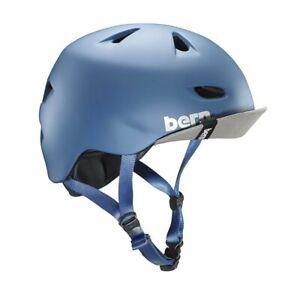 Bern Brentwood Summer Cycling Helmet (Matte Steel Blue / Medium Size)