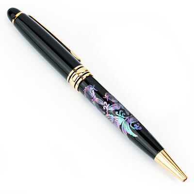 Mother of Pearl Retractable Fish Luxury Handmade Executive Gift Ballpoint Pen