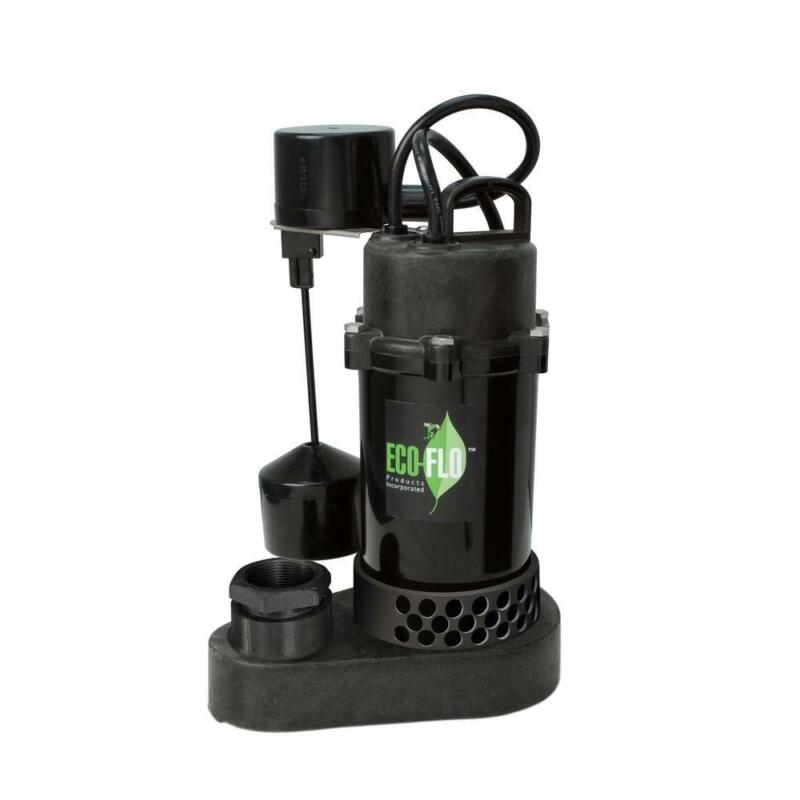 Semi-open Thermoplastic Sump Pump 1/3 HP with Vertical Float