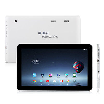 """iRULU 10.1"""" Phablet Google Android 6.0 Tablet 16GB Quad Sum 1.3GHz Wifi HD"""