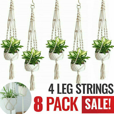 Macrame Plant Hangers Basket Indoor Outdoor Hanging Planter Flower Pot Holder