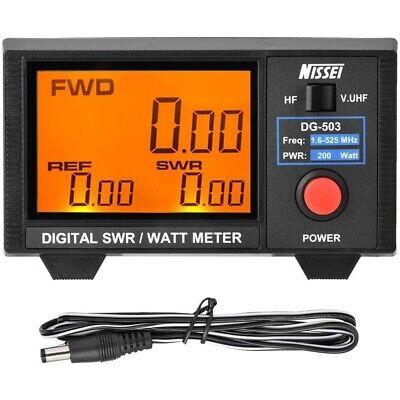 Digital 3.5 Swr Wattmeter 1.6-60 Mhz125-525 Mhz For 2-way Radios Walkie Talkie