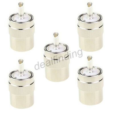 5 x  Connector UHF Male PL259 Plug Solder RG8 RG213 LMR400 Coax Cable Silver US. Buy it now for 7.9