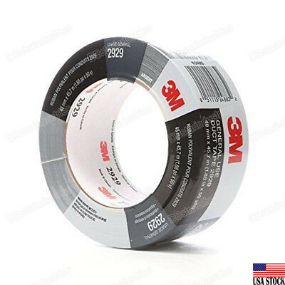 3m 2929 Utility Duct Tape Silver 1.88 In X 50 Yd 5.8 Mils Adhesive Sticky Tape