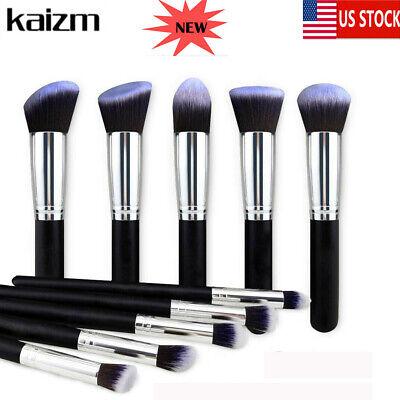 Makeup Brushes Set 10pcs Foundation Powder Liquid Lip Eyebrow Blusher Brush US Makeup Blusher Brush
