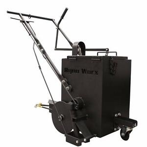 NEW RY 10 ASPHALT CRACK FILLER MELTER APPLICATOR RYNO WORX Apply hot rubberized crack filler walking speed