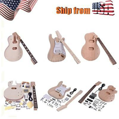 Neck Kit - DIY LP ST Electric Guitar Kit Maple Neck Rosewood Fingerboard Full Acces US C8G3