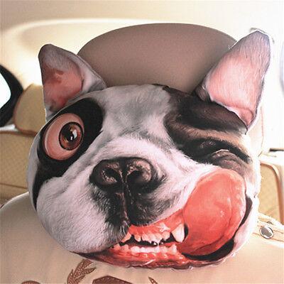 1X 3D Cartoon Shar Pei Dog Face Neck Pillow Headrest Neck Rest Cushion Universal