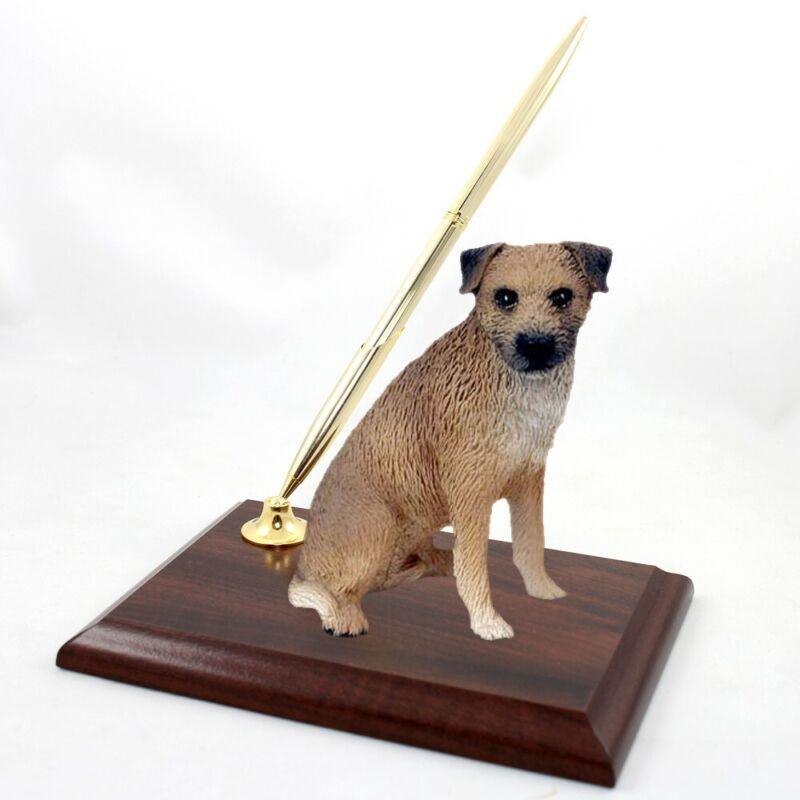 Victorian Trading Co Favorite Dog Breed Border Terrier Desk Pen Holder 41F