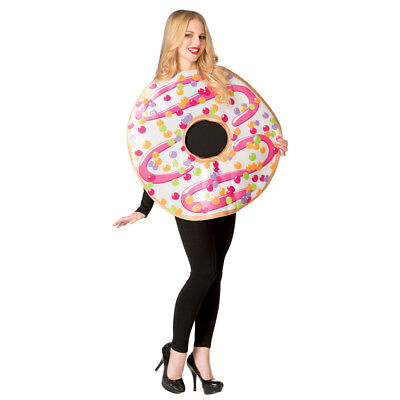 Adult White Frosted Donut Halloween Costume