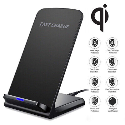 10W Fast Wireless Charger Stand Qi Charging Dock W/ Cable for iPhone 11 Pro X 8