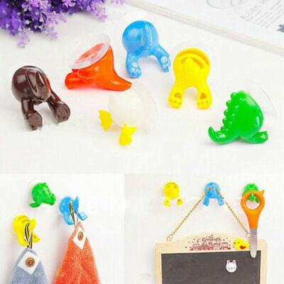 Tool Hanger Kit (Cute Animal Tails Hooks Hanger Bathroom Kitchen Shower Suction Cup DIY Tool Kit)