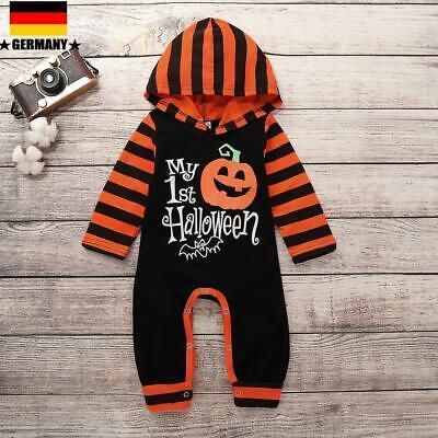 s Baby Mädchen Halloween Kapuze Strampler Jumpsuit Kürbis Kostüm (Halloween Baby Kostüme)